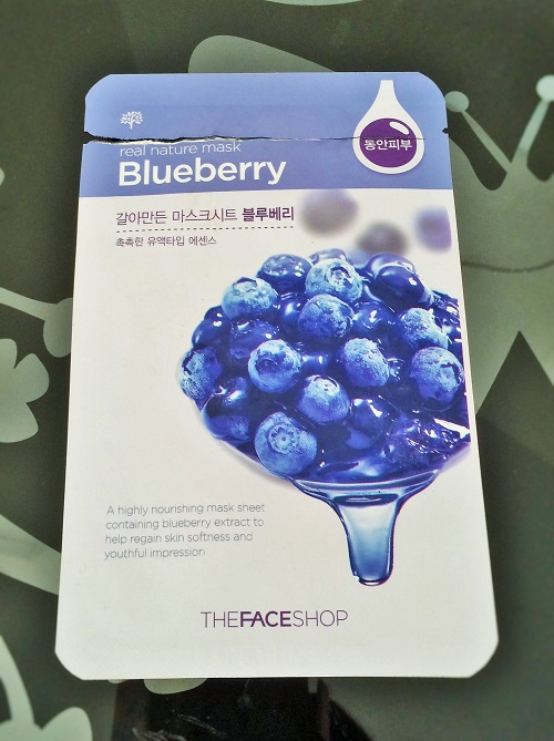 the face shop blueberry mask