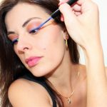 nyx vivid brights liner sapphire maquillage