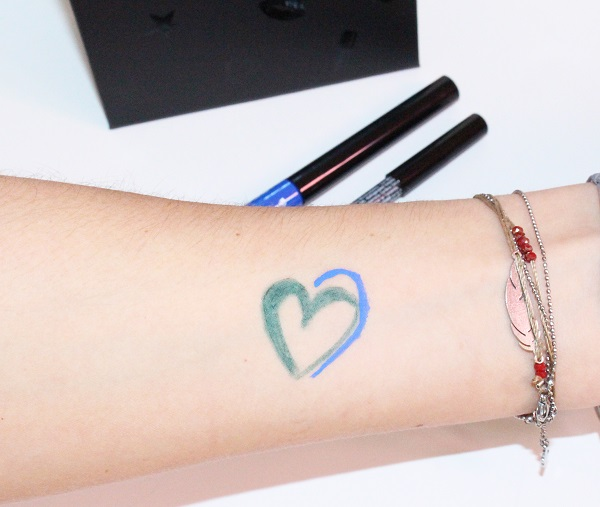 swatch crayon et liner nyx