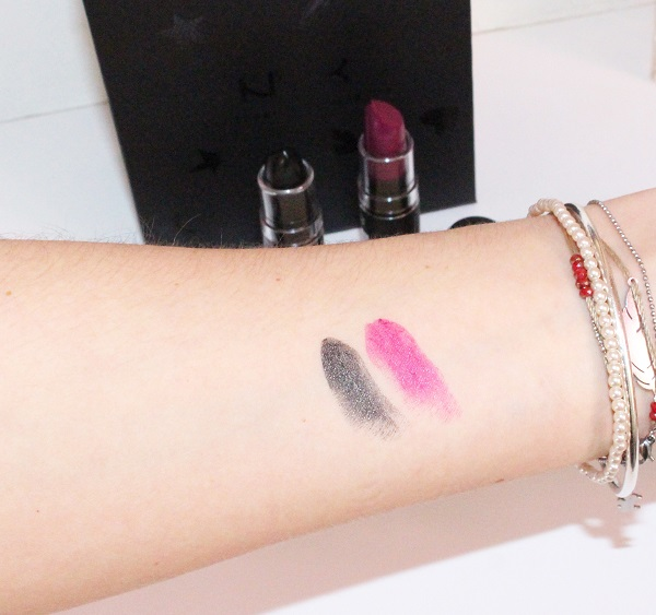 swatch rouge a levres nyx