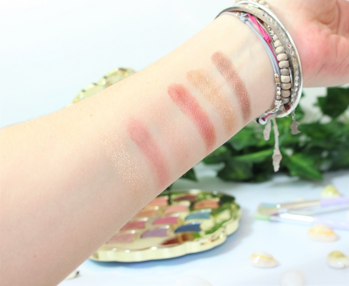 swatch Be a mermaid & Make waves tarte cosmetics