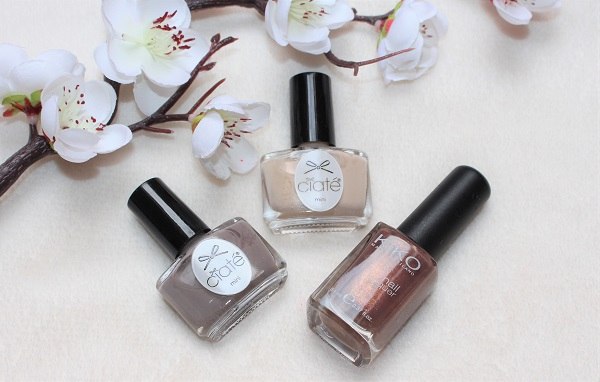 vernis a ongles marron beiges